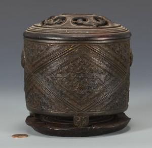 Lot 3594158: 19th c. Chinese Bronze Censer