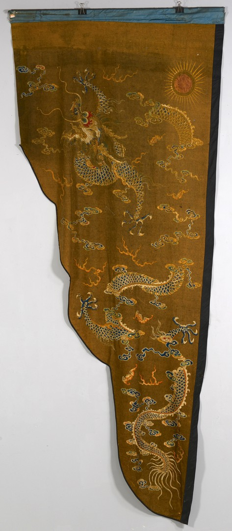 Lot 3594167: Chinese Qing Dragon Banner