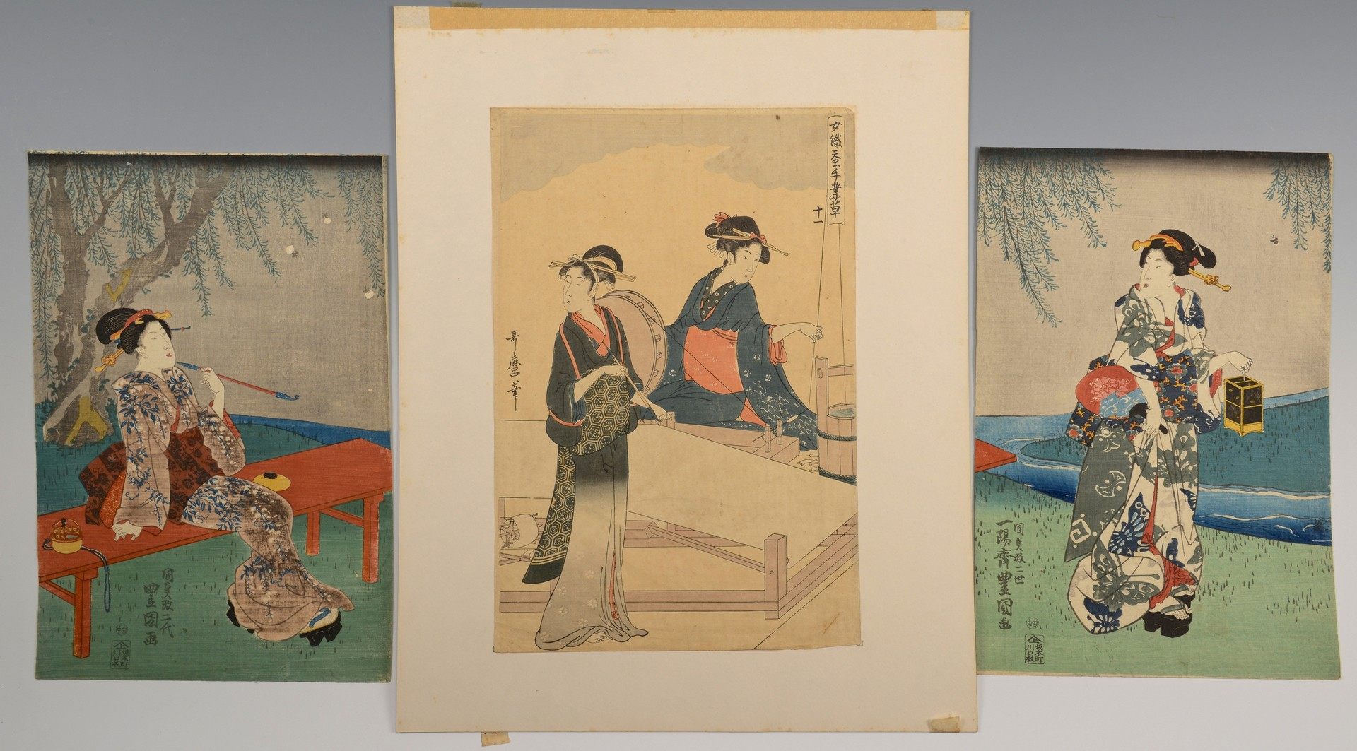 Lot 3594178: 3 Japanese Woodblock Prints