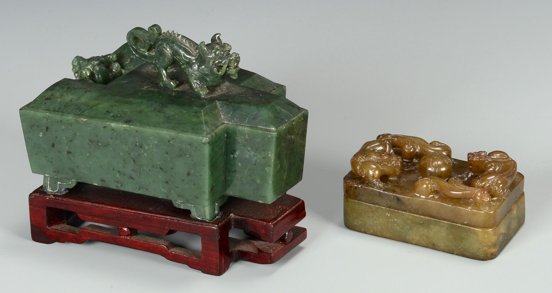 Lot 3594182: 5 Asian Hardstone Vessels
