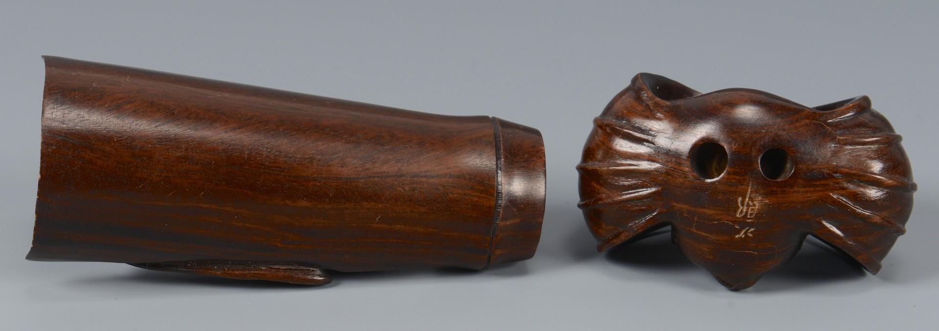 Lot 3594188: 7 carved, signed hardwood netsukes