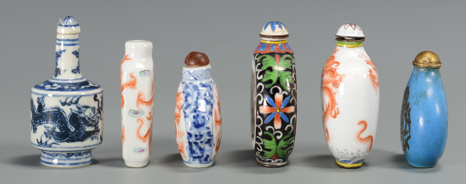 Lot 3594192: Group of 6 Asian Snuff Bottles