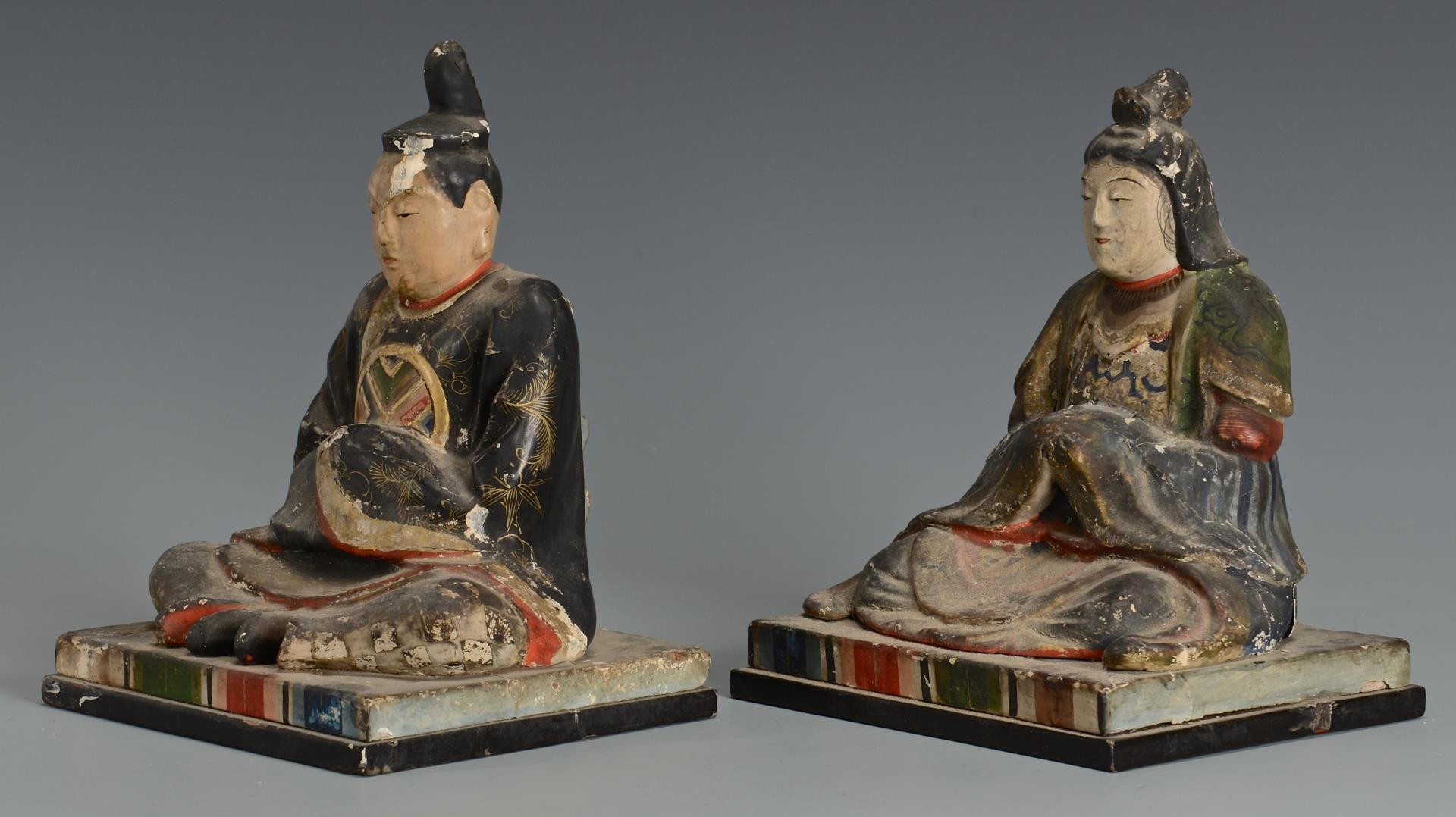 Lot 3594193: Asian Carved & Painted Items, 5 pcs.