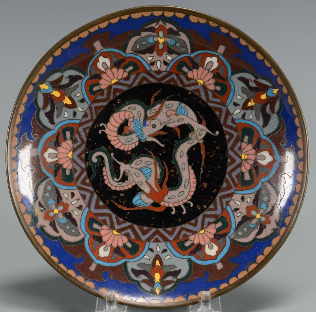 Lot 3594199: 2 Pcs. Cloisonne, Charger & Plate