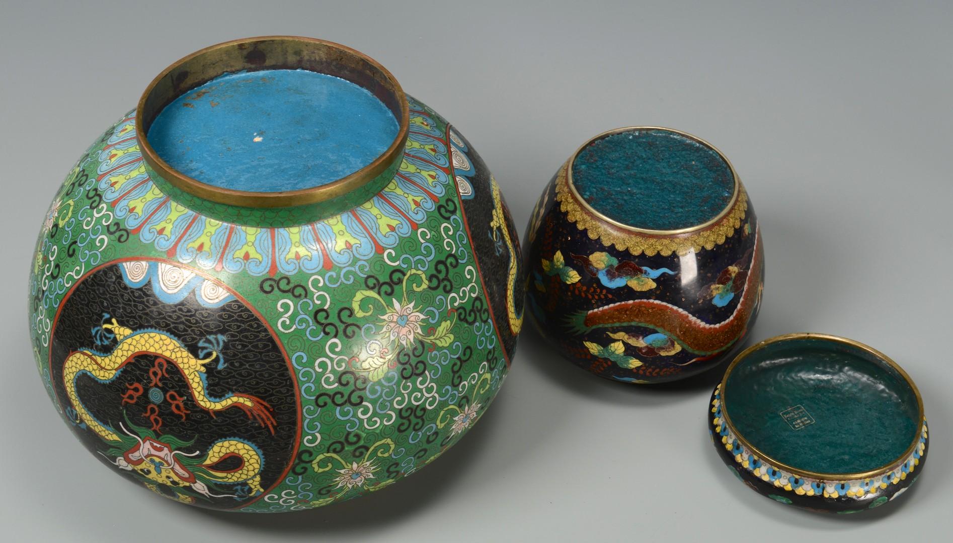 Lot 3594200: 2 Cloisonne Storage Jars