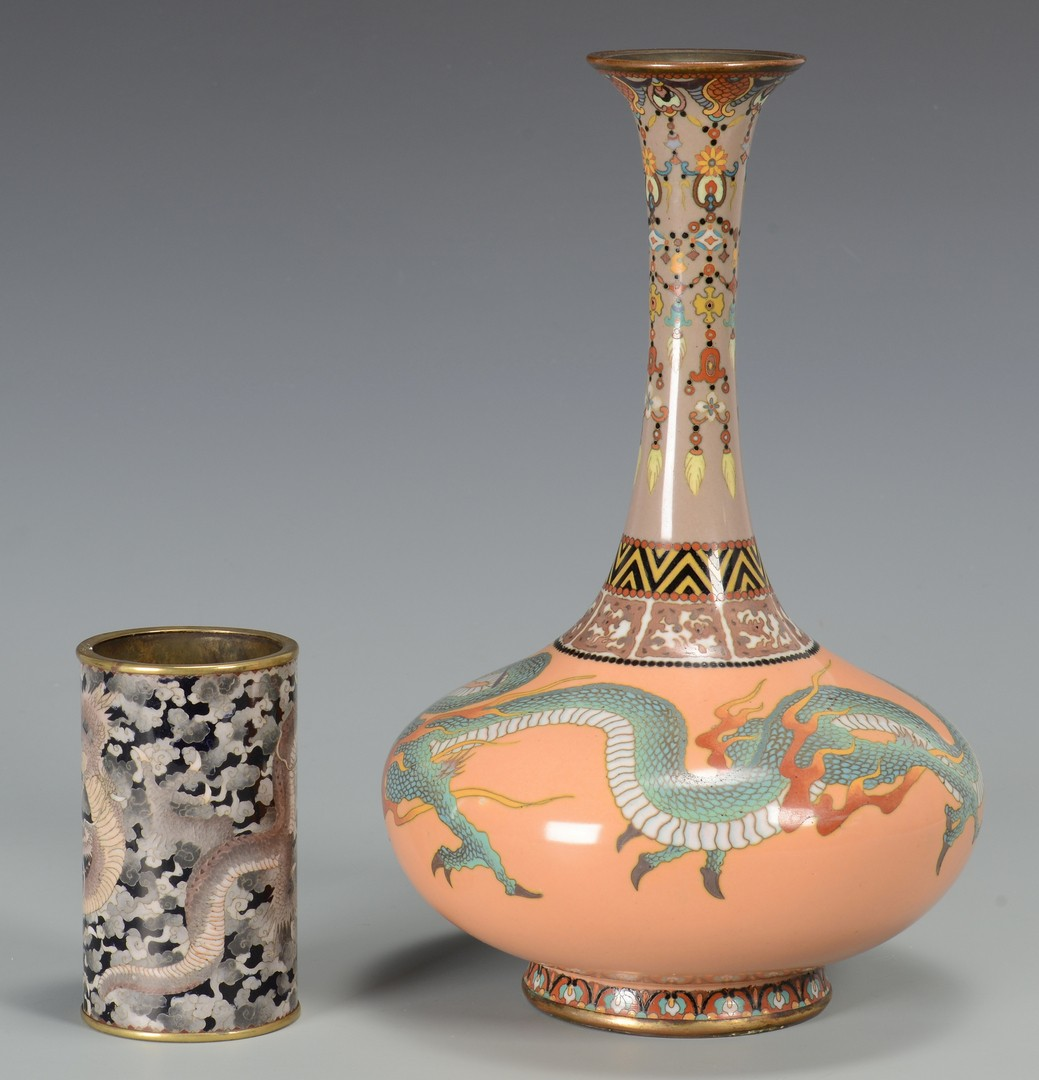 Lot 3594203: 2 Chinese Cloisonne Vases