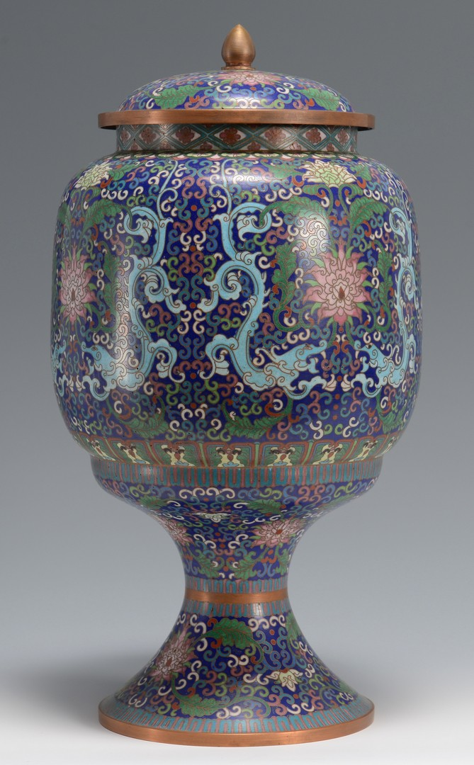 Lot 3594209: Large Chinese Cloisonne Urn