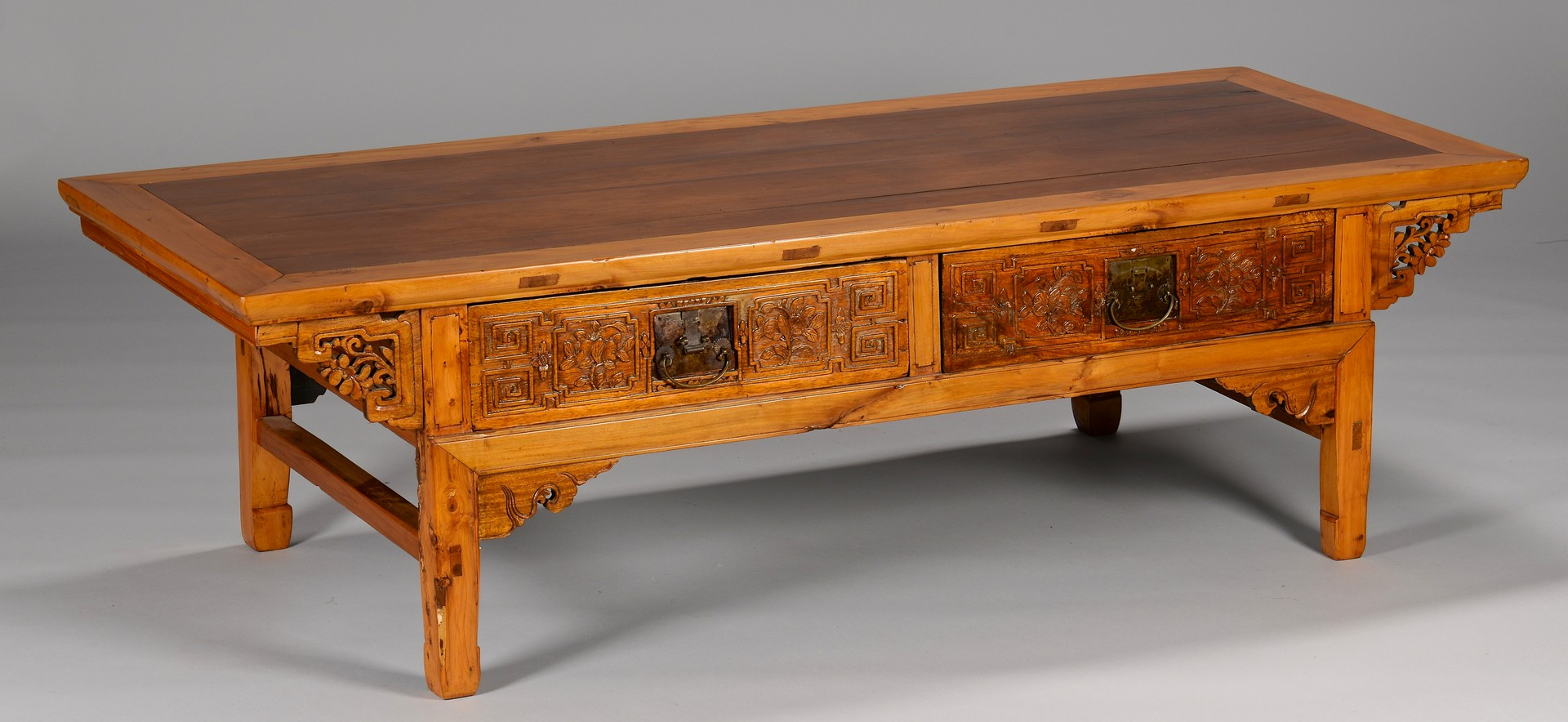 Lot 3594211: Carved Tibetan Low Table