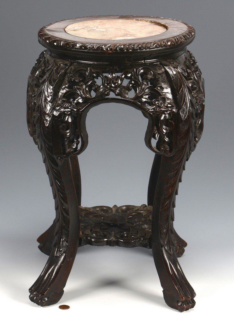 Lot 3594212: Chinese Carved Asian Stand