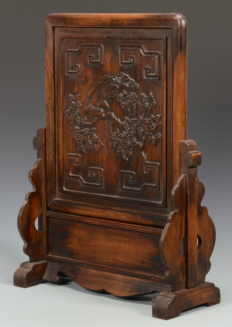 Lot 3594213: Chinese Carved Hardwood Table Screen