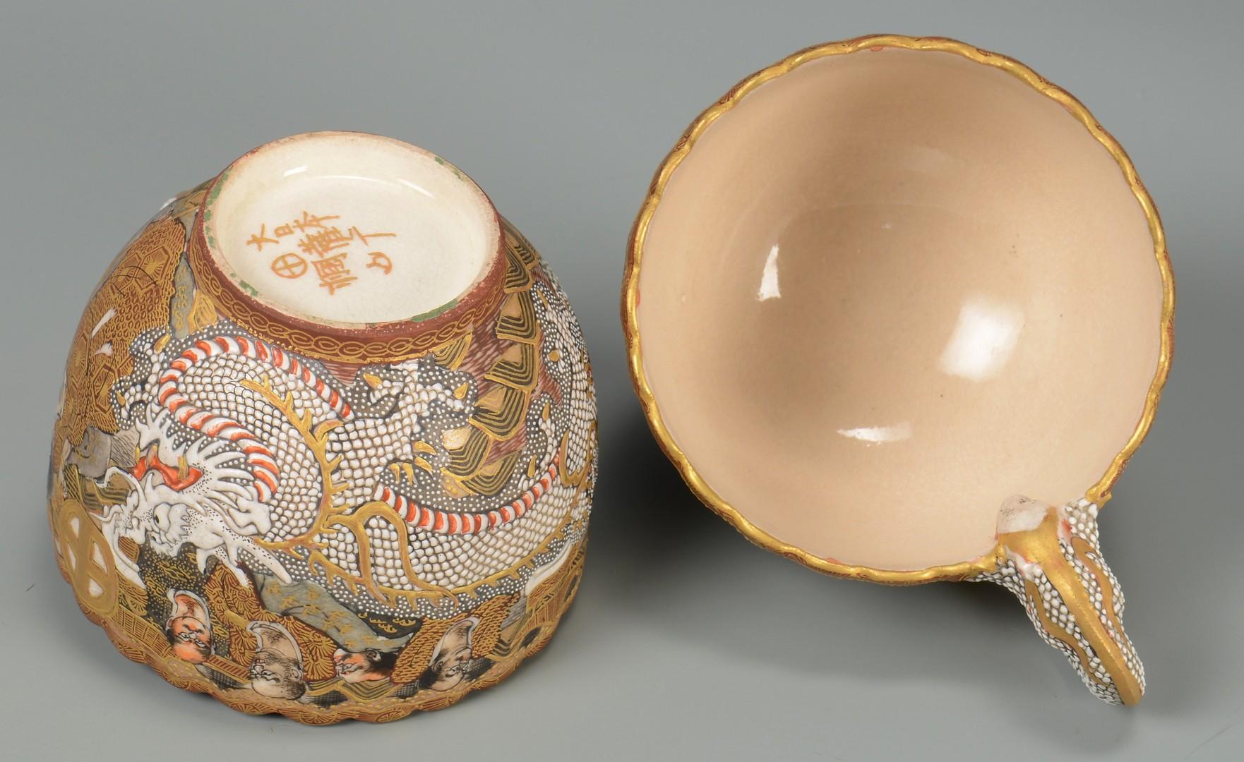 Lot 3594218: 2 Japanese Satsuma Tea Services, 23 pcs.