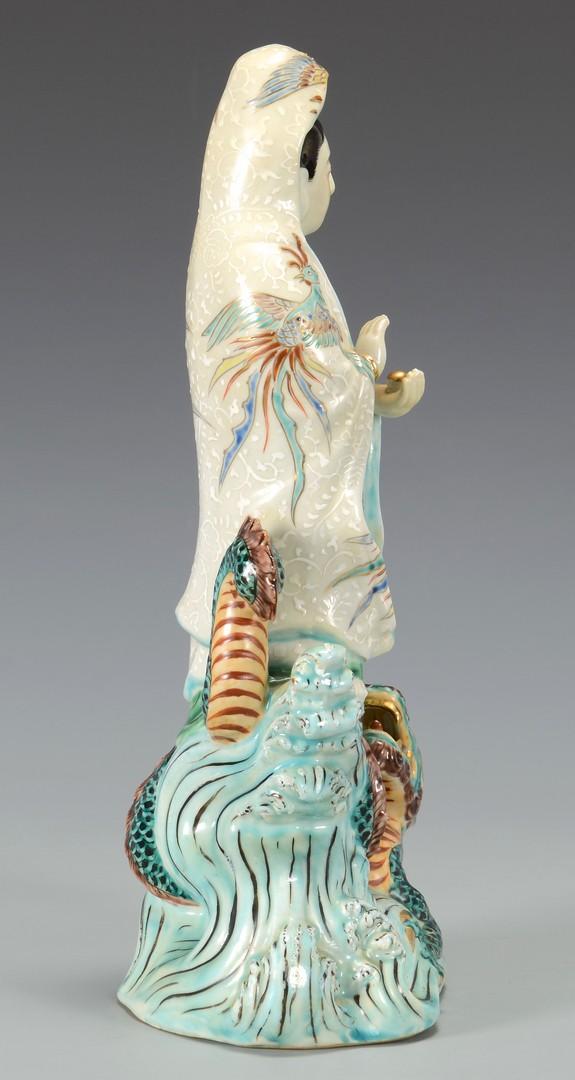 Lot 3594226: Chinese Guan Yin & Dragon Figural Group