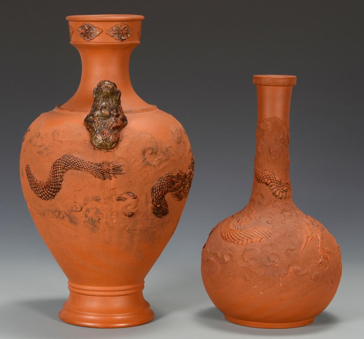 Lot 3594230: 2 Large Chinese Yixing Vases
