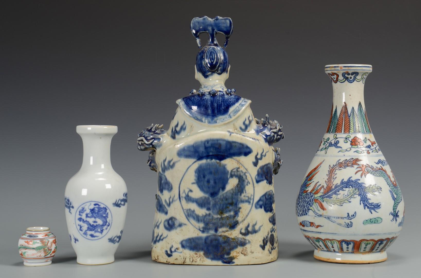Lot 3594232: Immortal Figure & 3 Vases