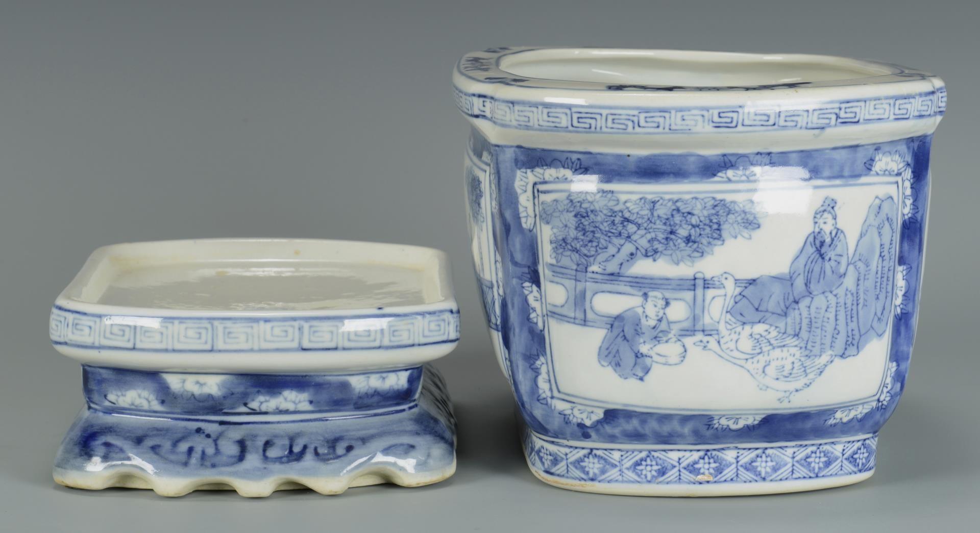 Lot 3594240: Chinese Fish Bowl; Jardiniere