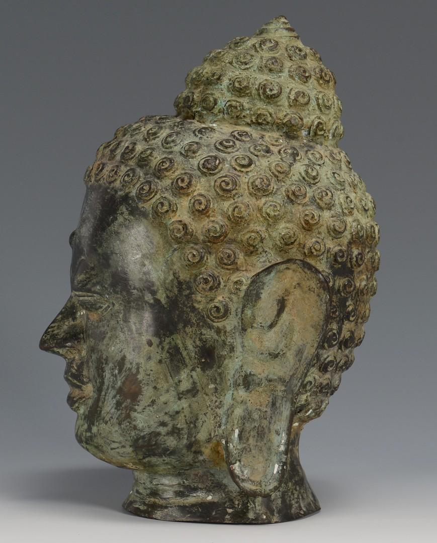 Lot 3594246: Asian Bronze Buddha Head