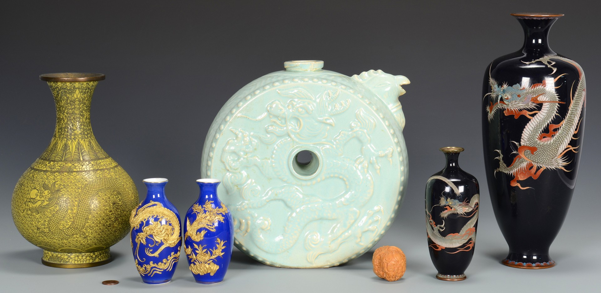 Lot 3594249: 7 Assorted Asian items inc. cloisonne
