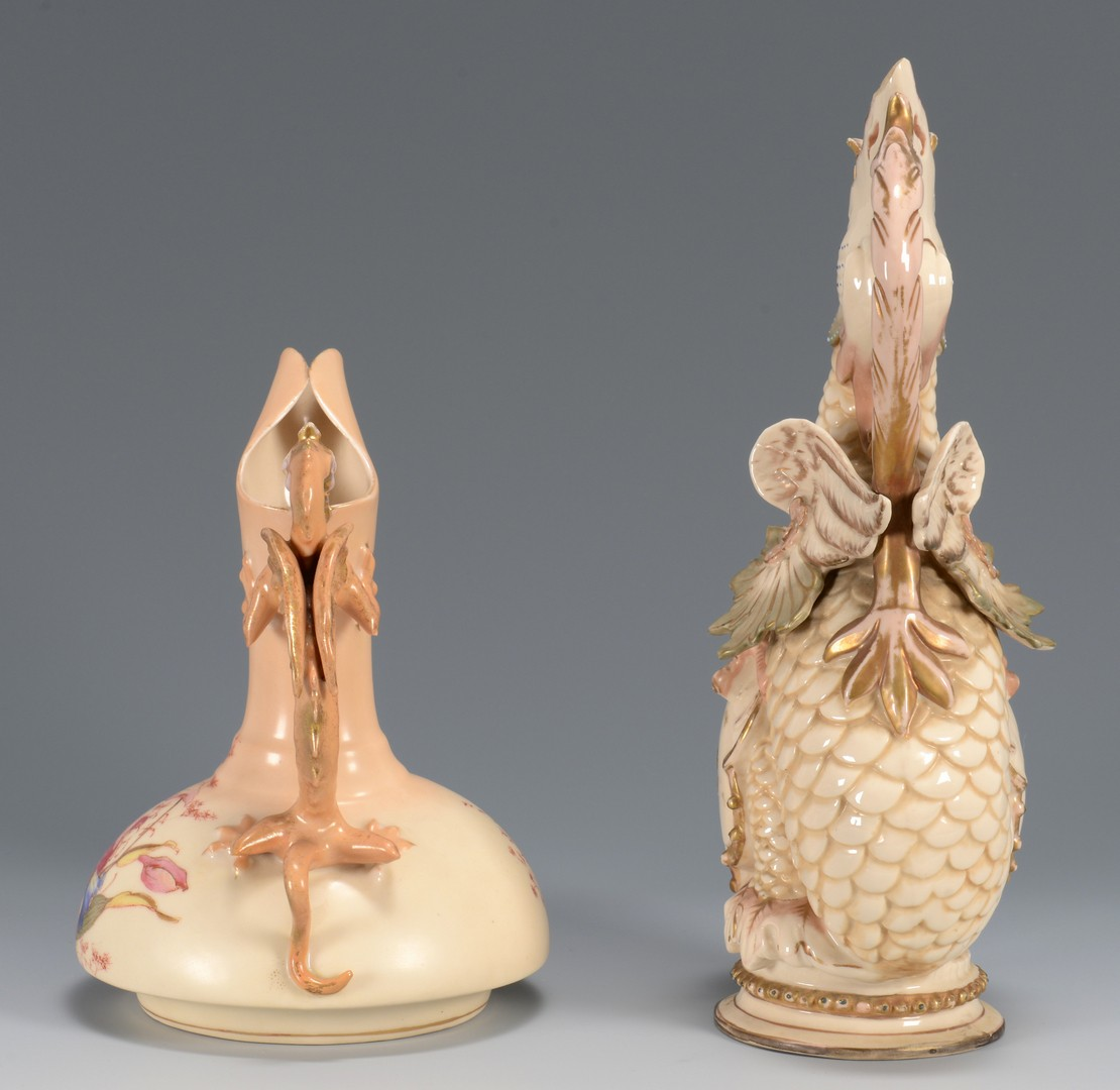 Lot 3594251: 2 Continental Figural Porcelain Ewers
