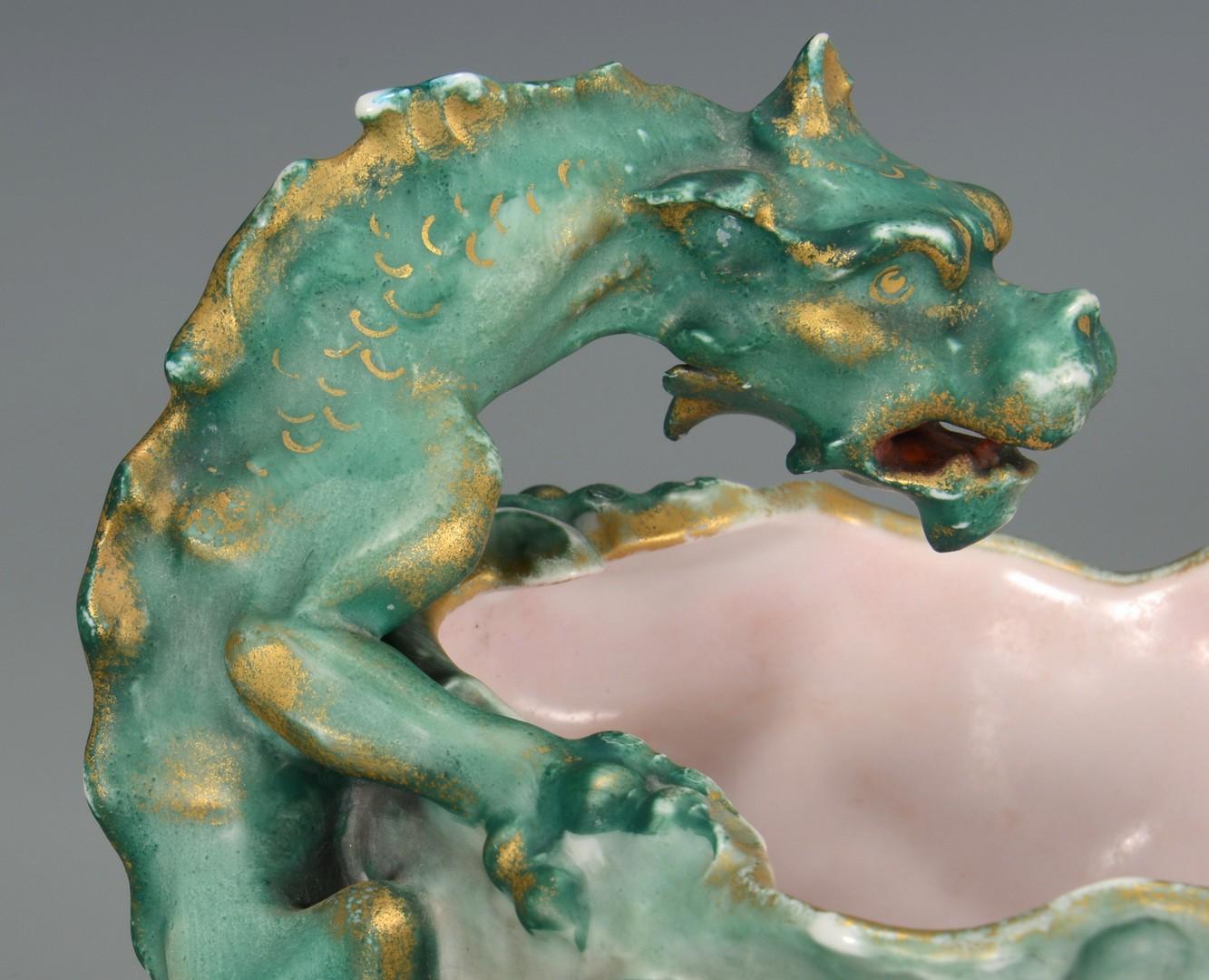 Lot 3594253: 2 pcs. Continental Porcelain, Dragon Decoration
