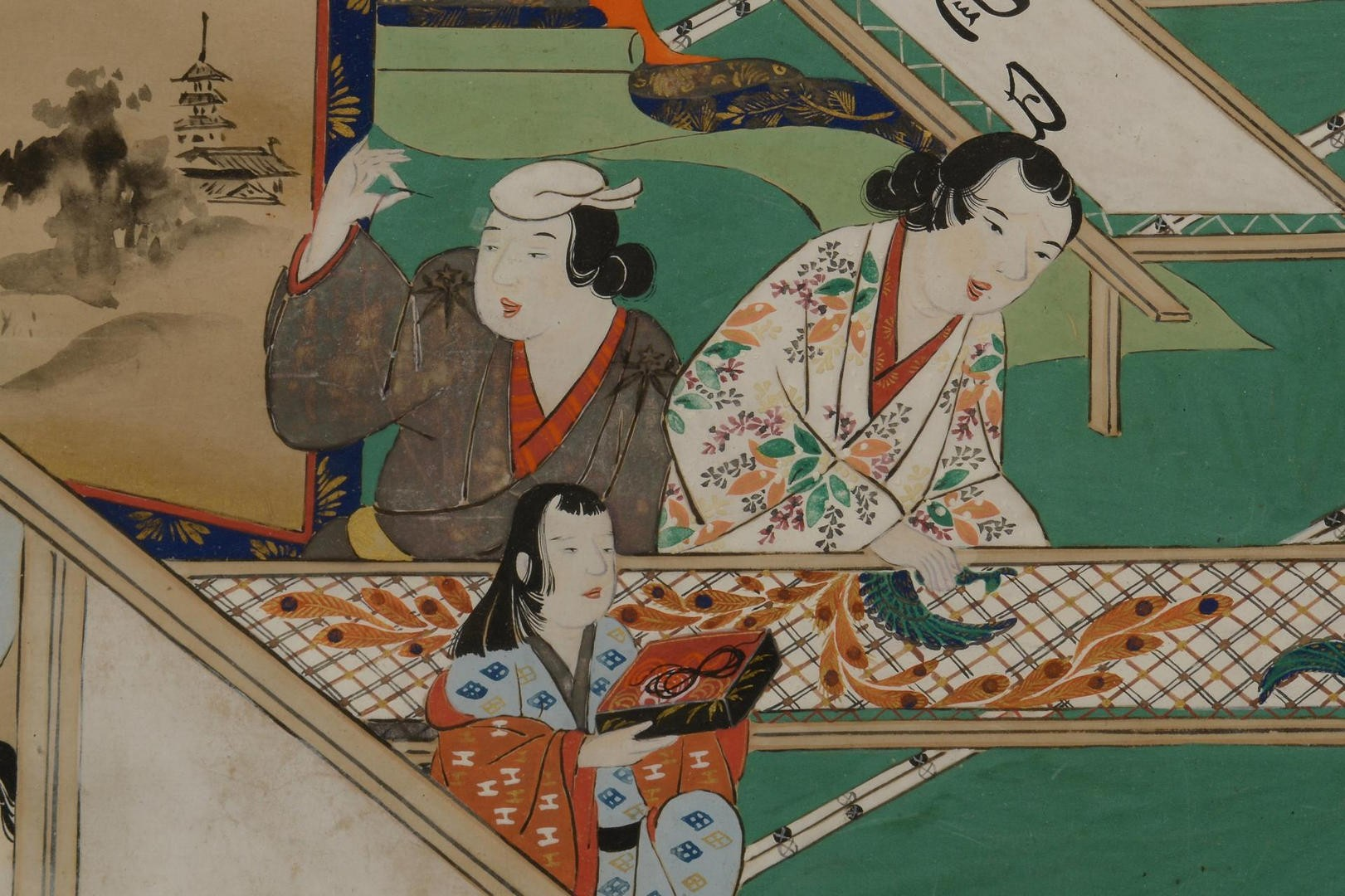Lot 3594261: Asian Painting of Obi Makers