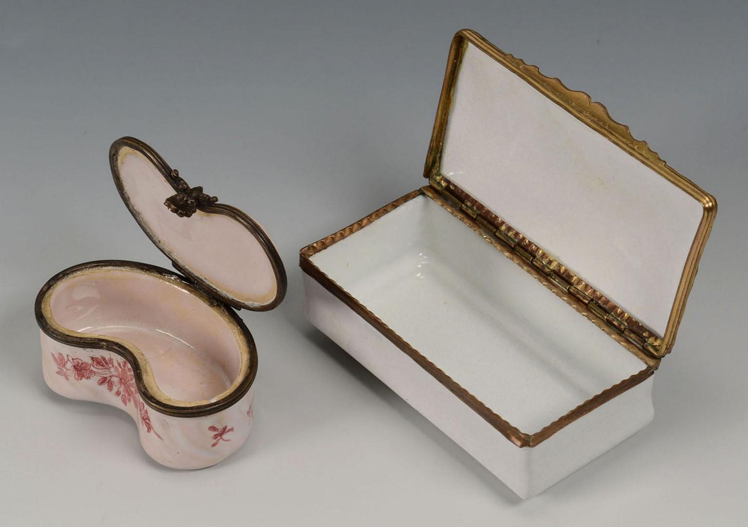 Lot 3594265: 2 19th century enamel boxes inc. Veuve Perrin