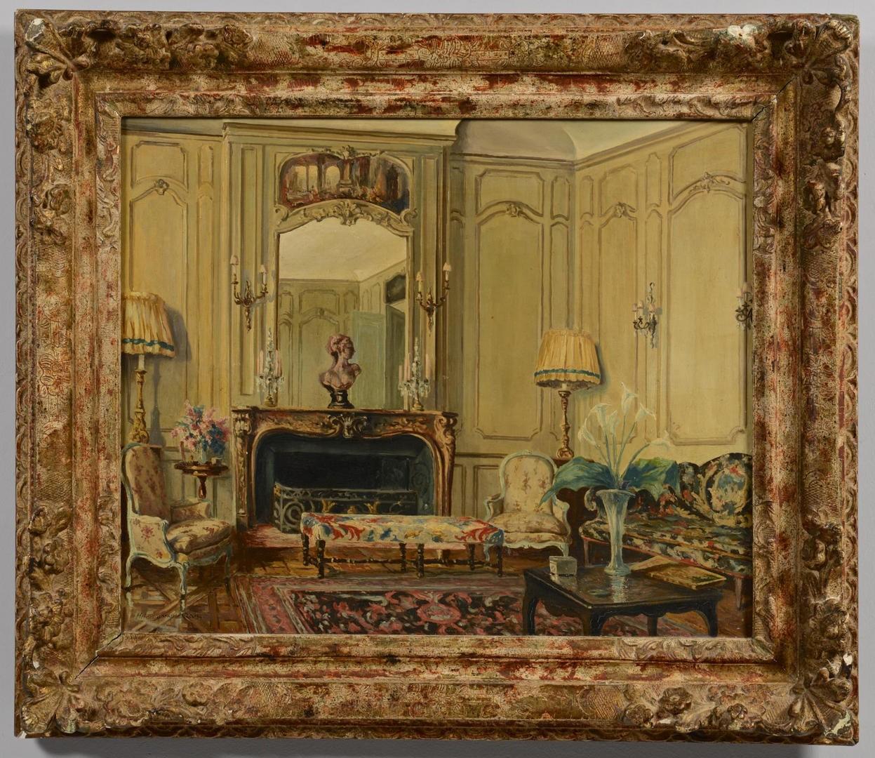 Lot 3594273: Interior Scene, sgd. Heinrich XXXIII Reuss