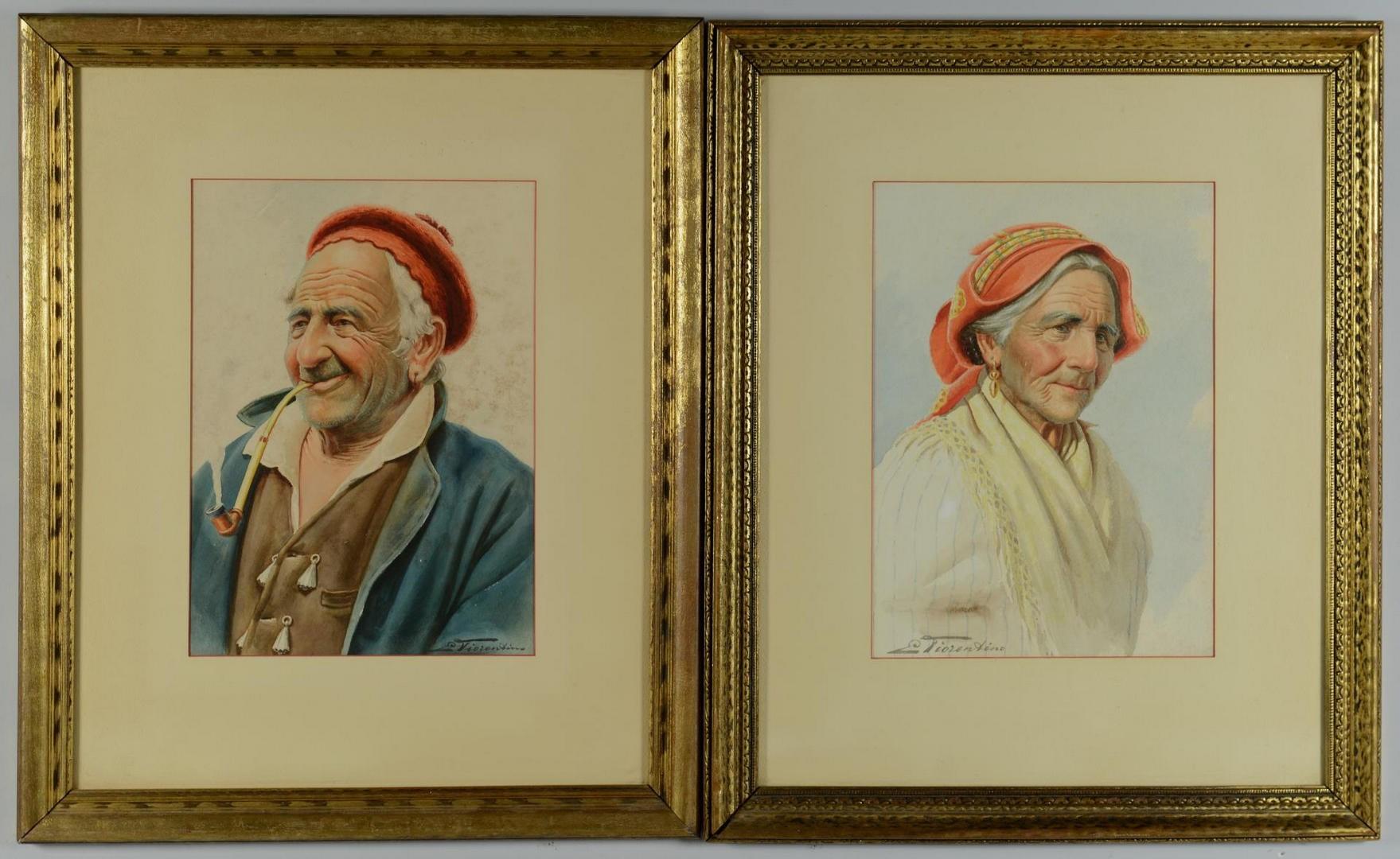 Lot 3594274: Pr Antonio E. Fiorentino Portraits