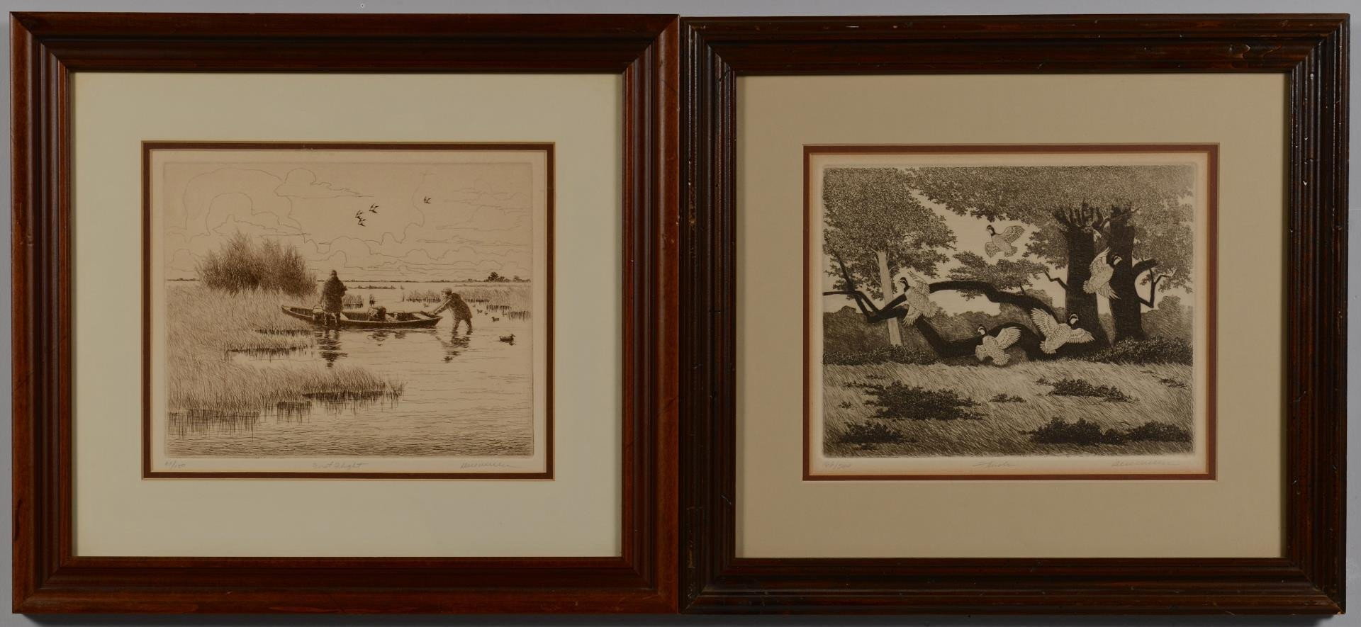 Lot 3594280: 2 Dell Weller Duck Hunt Prints