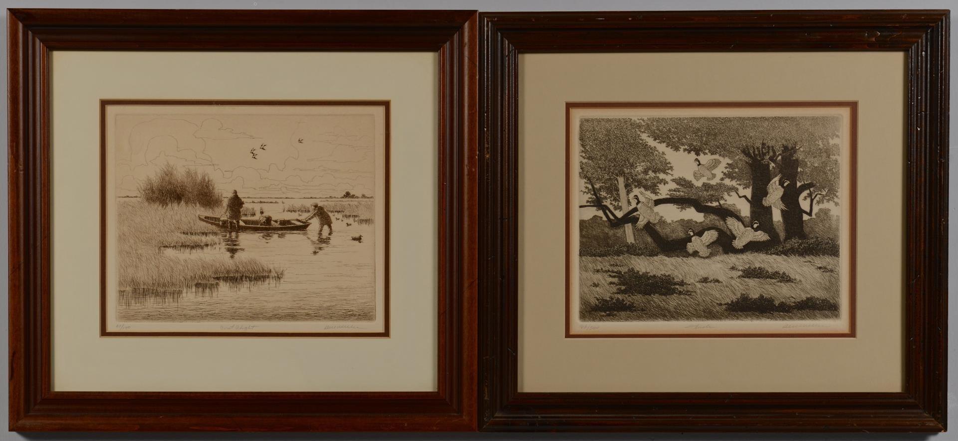 Lot 3594280: 2 Dell Weller Duck Hunt Prints