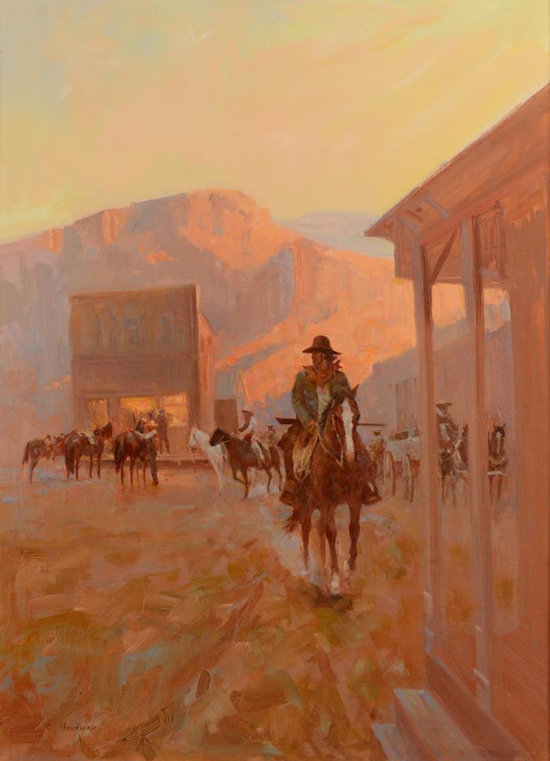 Lot 3594281: Carl Hantman o/b, Illustration of Cowboy