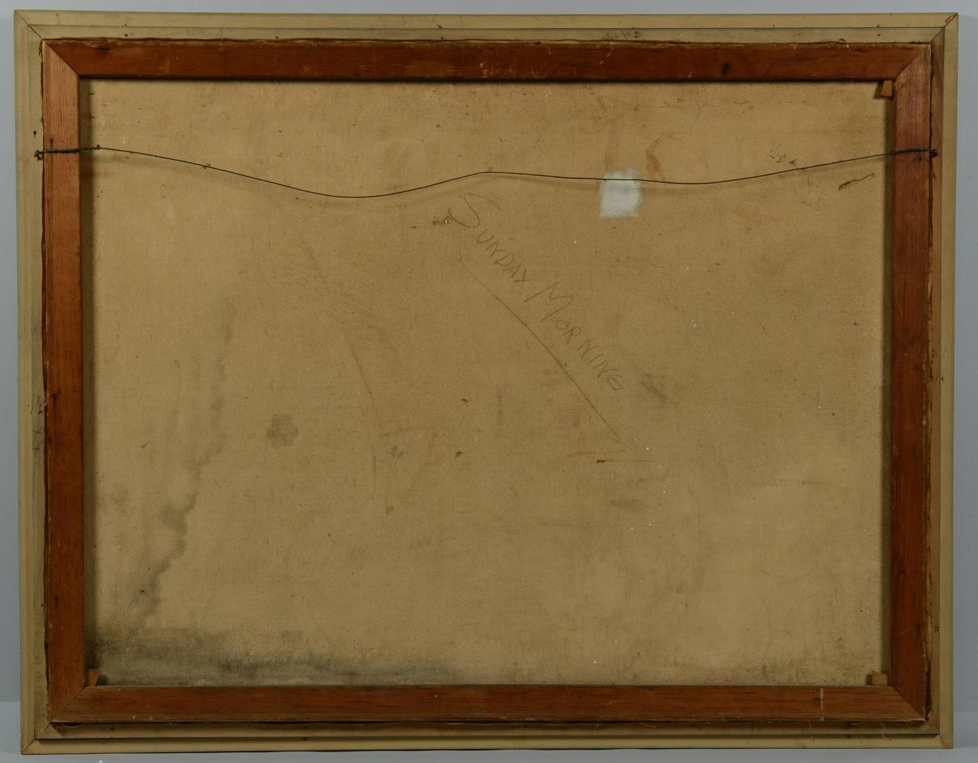 Lot 3594283: Abstract War Oil, E. Christie