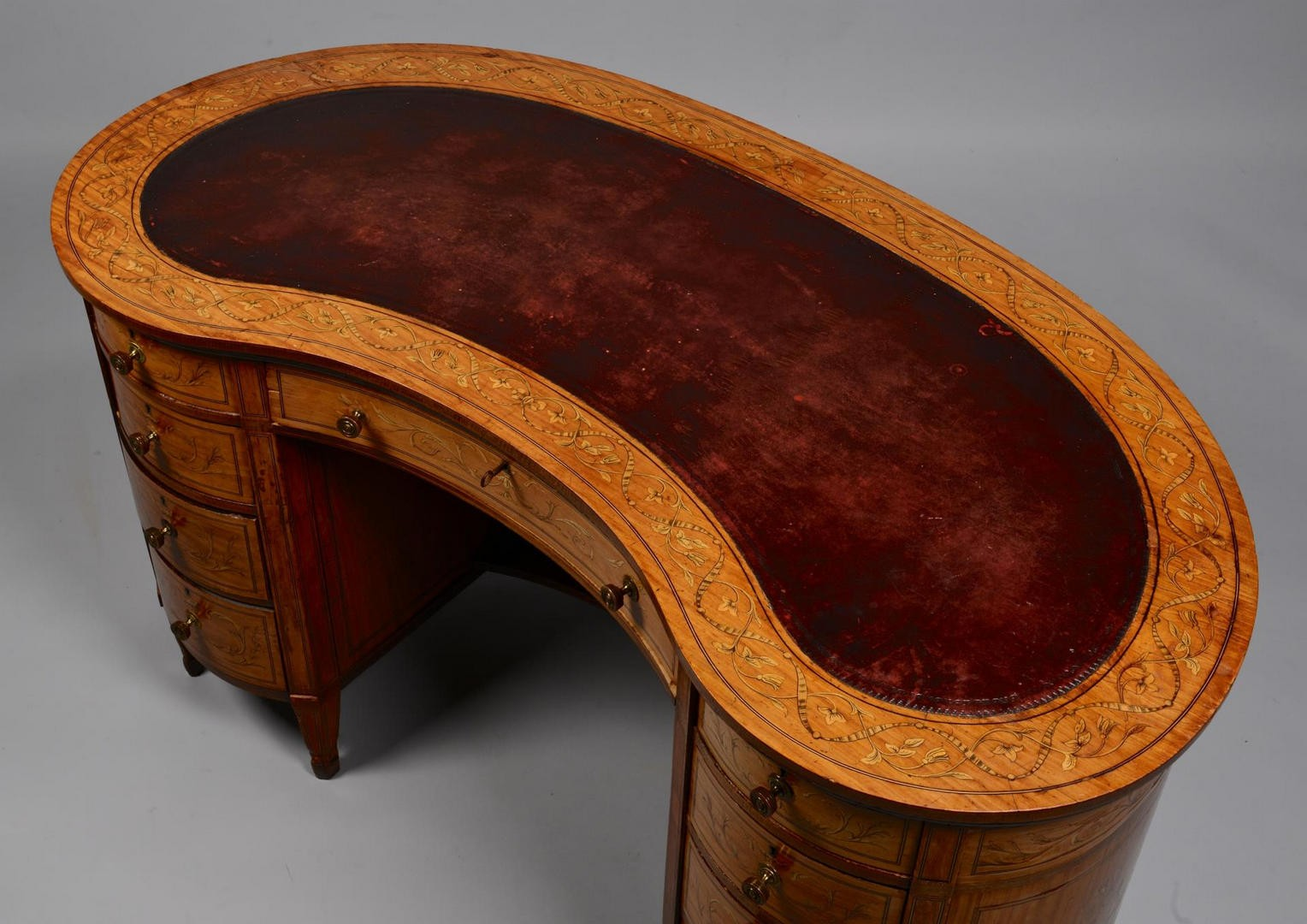 Lot 3594284: Adam Style Marquetry Desk