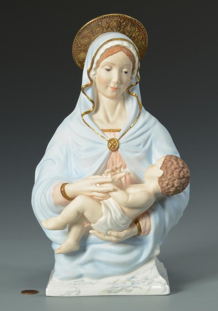 Lot 3594287: Boehm Porcelain Madonna w/ Child