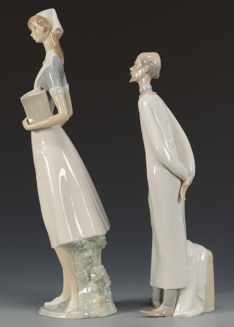 Lot 3594288 2 Lladro Porcelain Figures Doctor Amp Nurse