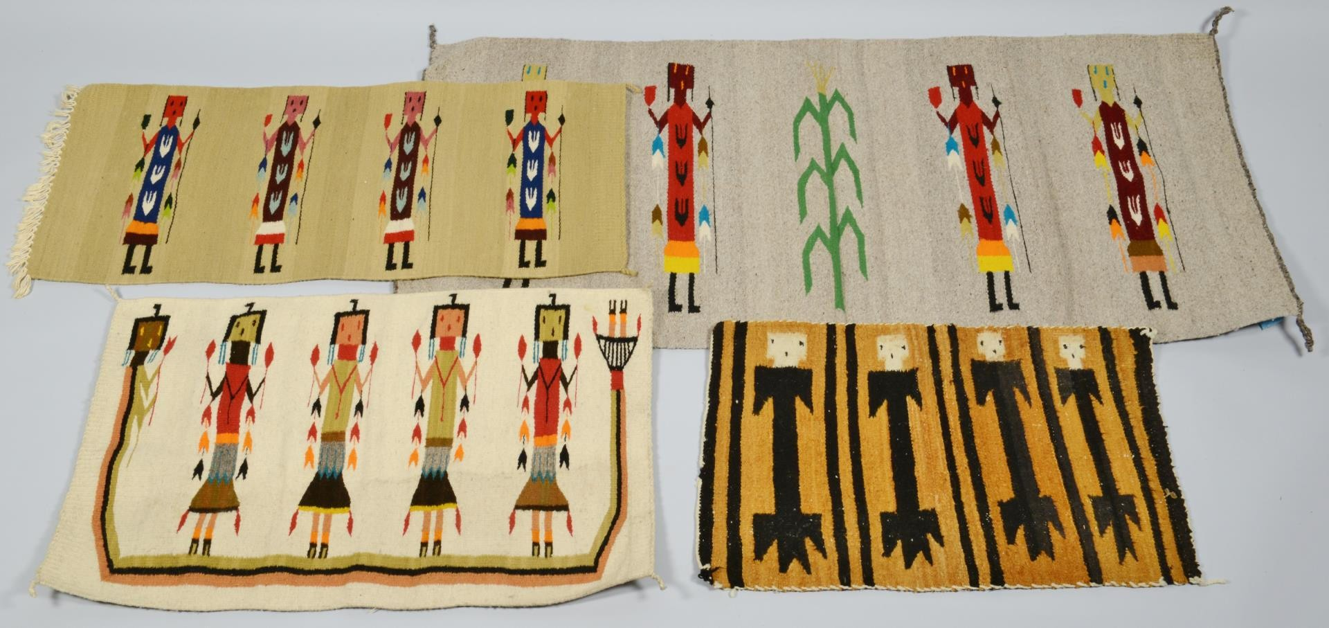 Lot 3594289: Group of Native American art and area rugs