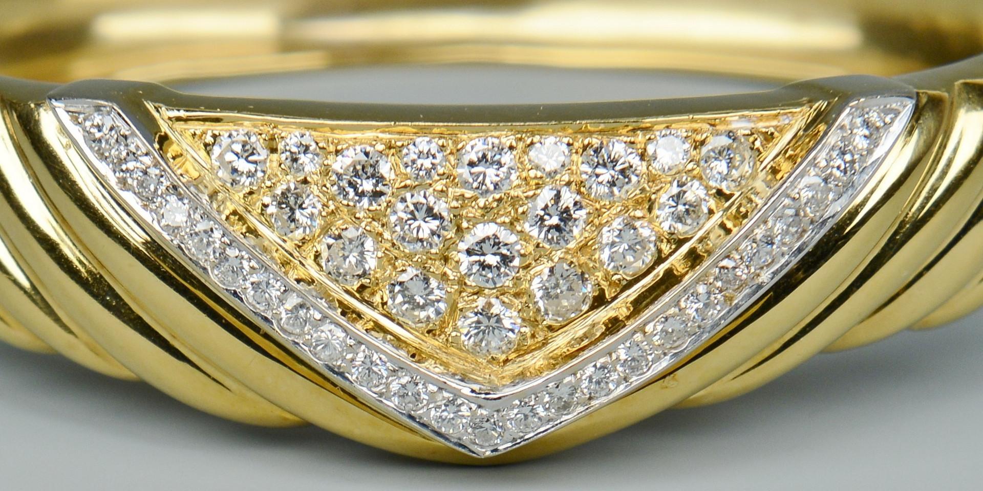 Lot 102: 18k Diamond Bangle Bracelet