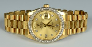 Lot 111: Men's 18K Rolex Oyster Perpetual Wristwatch