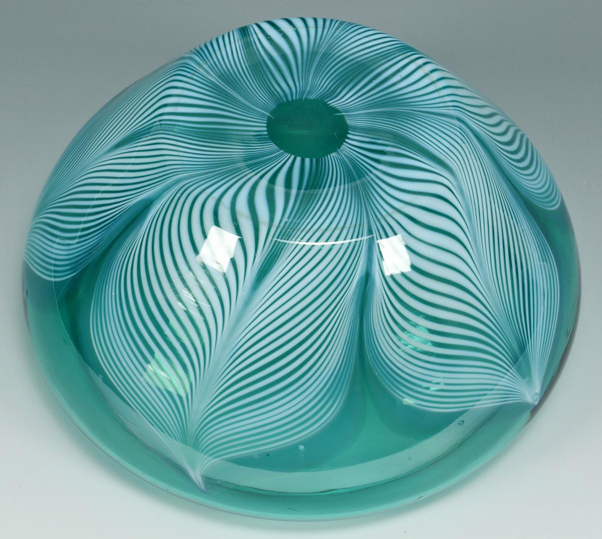 Lot 125: Durand Peacock Bowl & 4 Plates