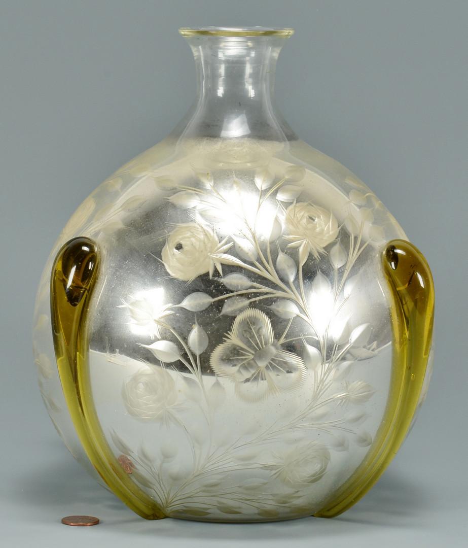 Lot 126: Mercury Cut Glass Vase att. Durand