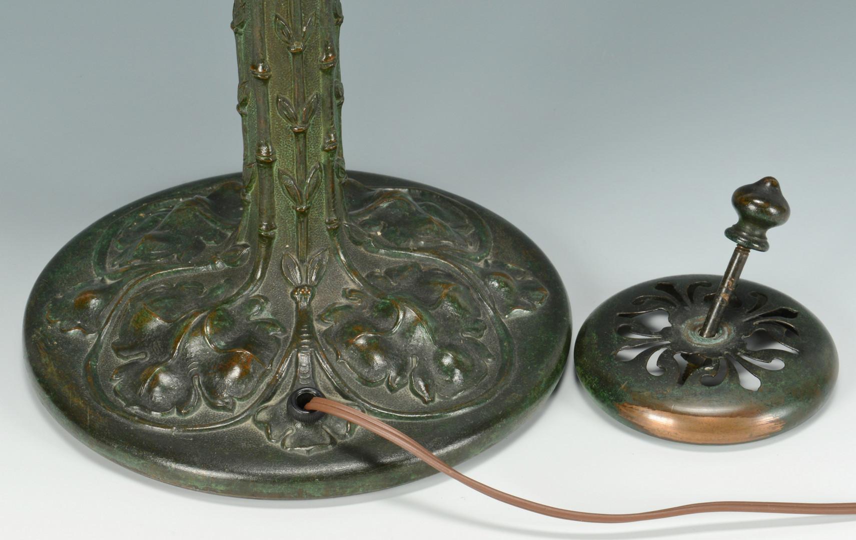 "Lot 128: Duffner & Kimberly ""Bamboo""Mosaic Lamp"