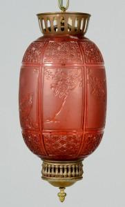 Lot 130: Signed Baccarat Lantern