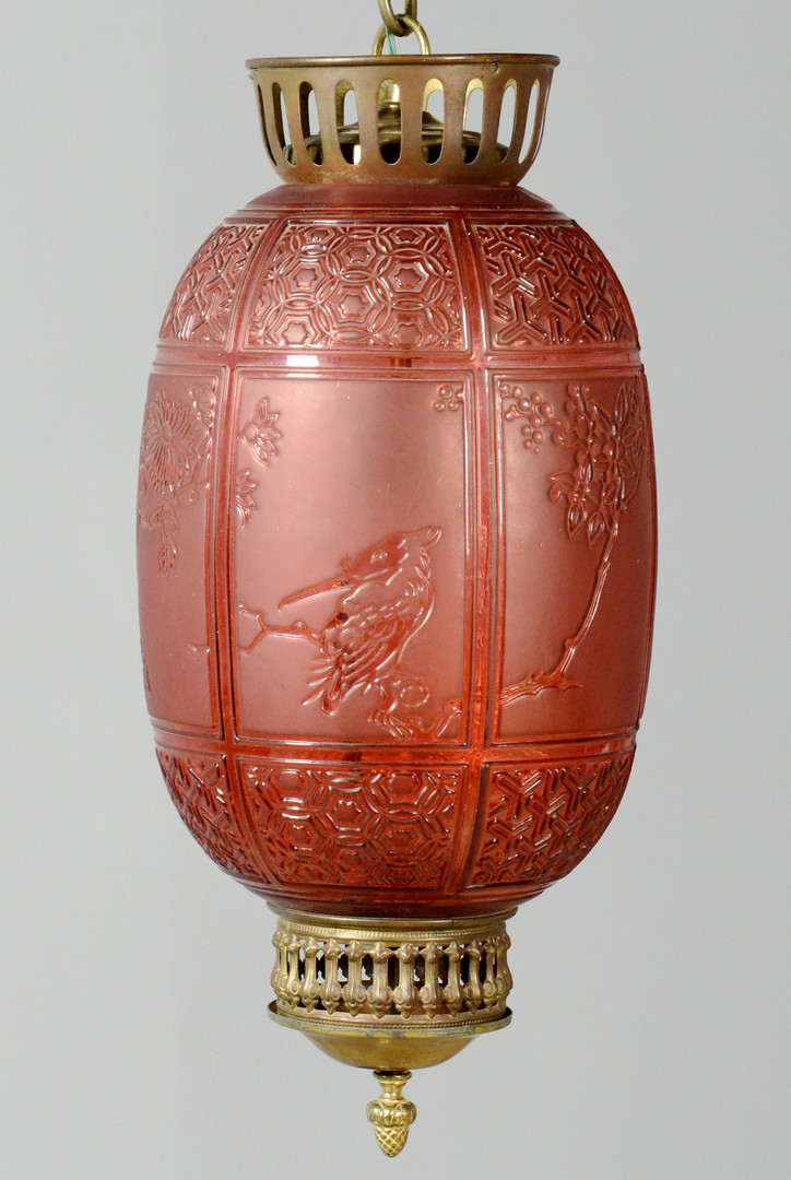 Lot 130: Signed Baccarat Lantern