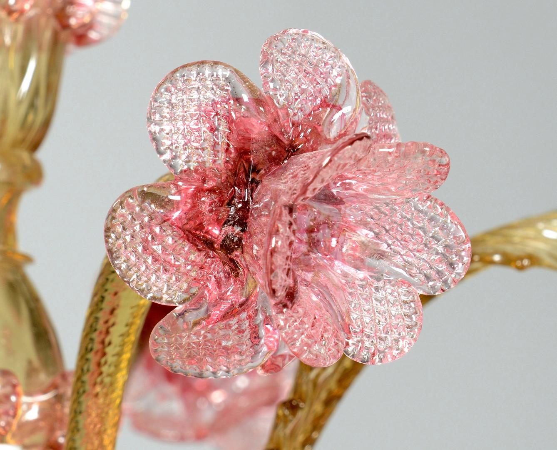 Lot 131 VenetianMurano Glass Chandelier – Pink Glass Chandelier