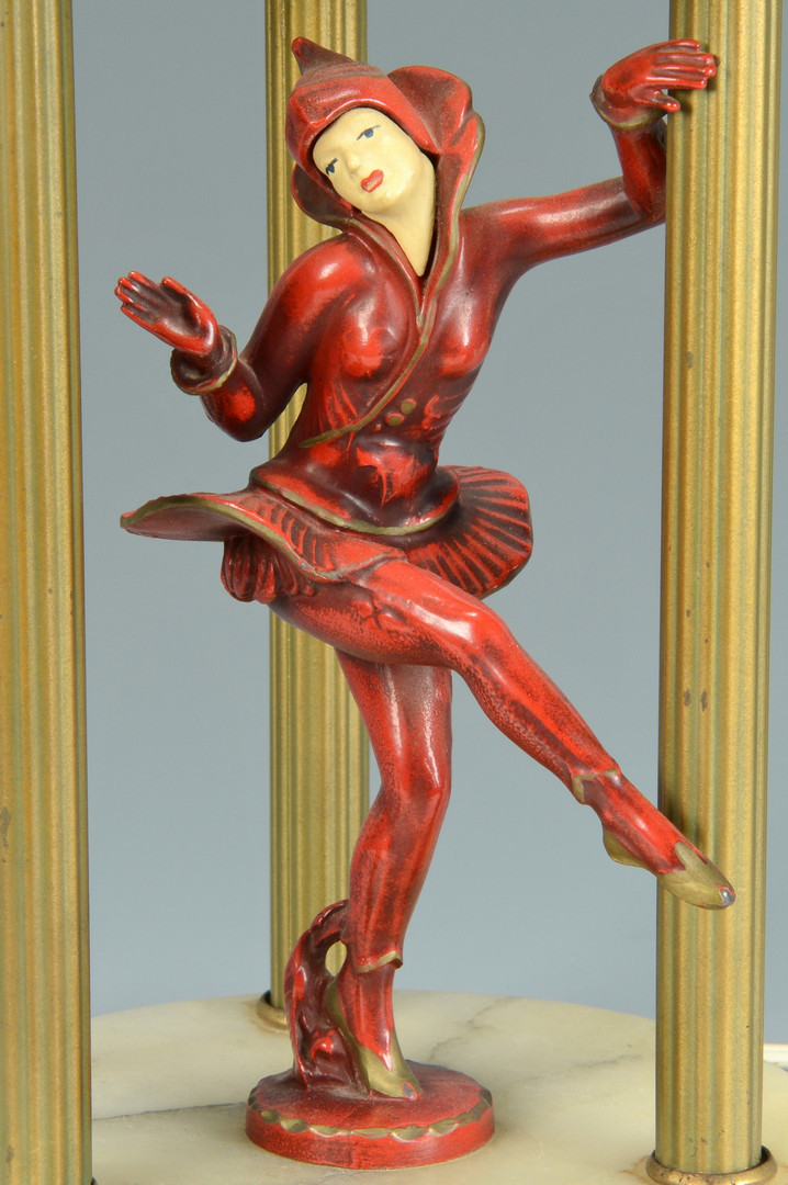 Lot 132: Art Deco Cold Painted Figural Lamp