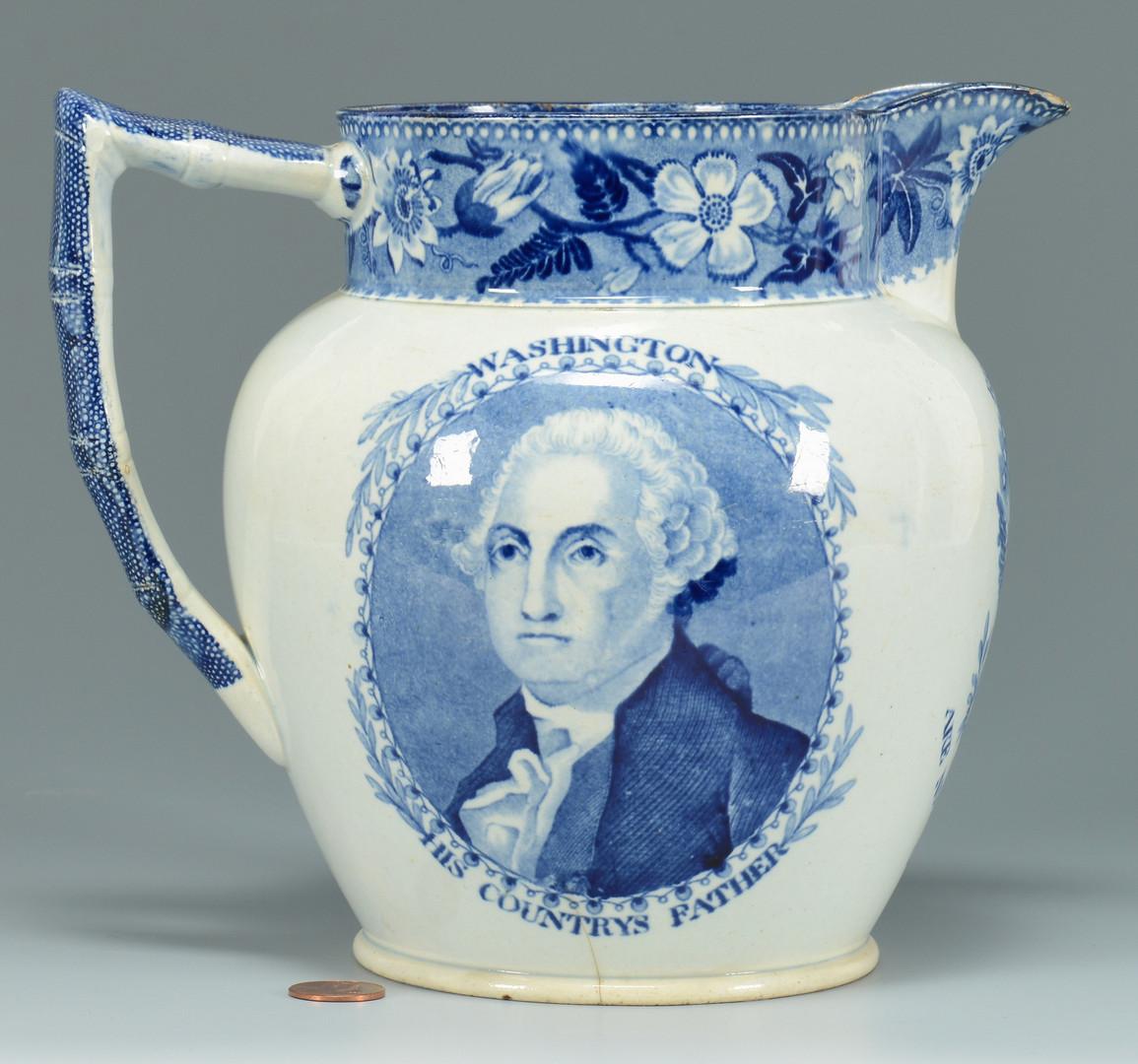 Lot 137: Historical Pitcher, Lafayette and Washington