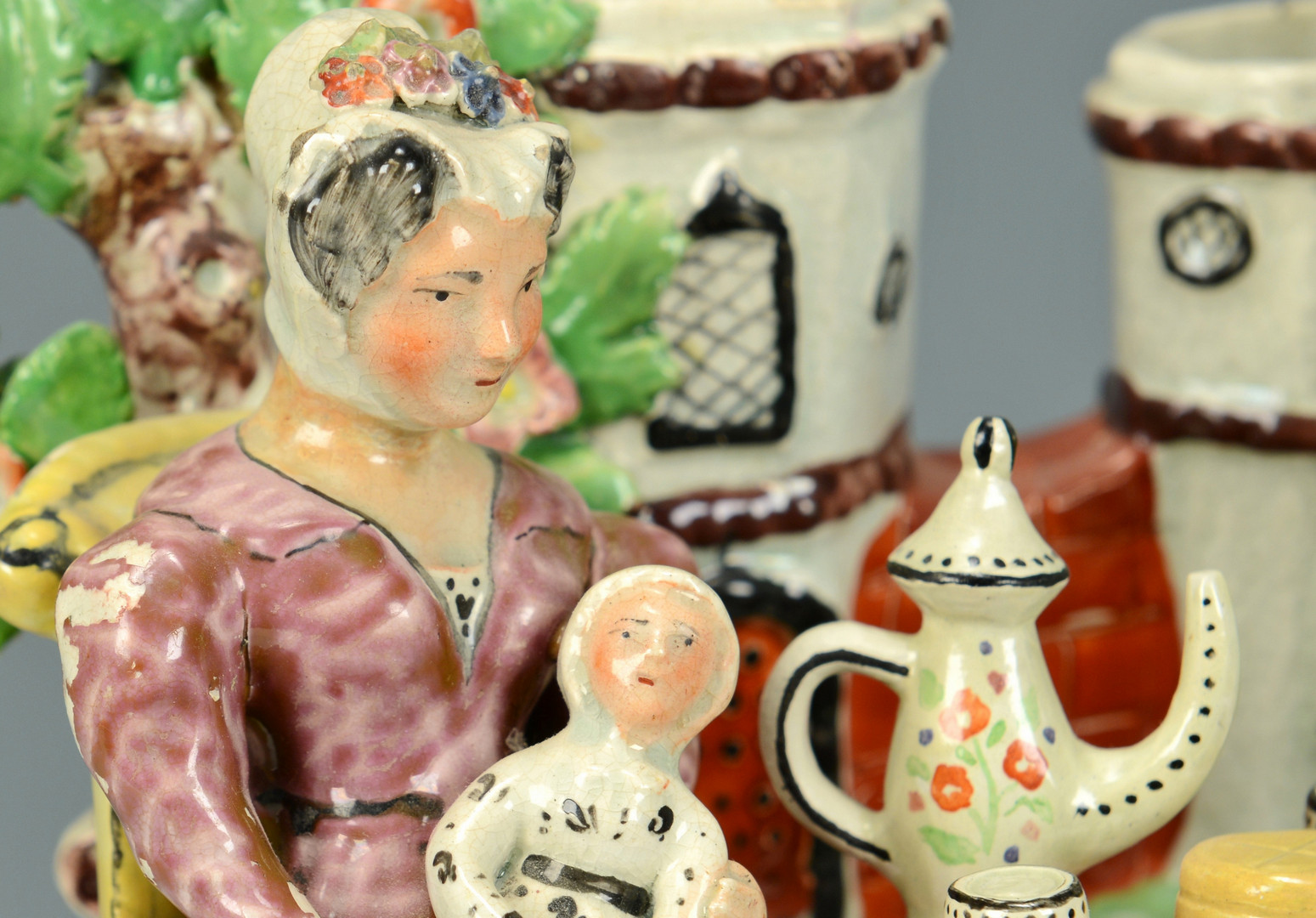 Lot 139: Staffordshire Figural Group: Tee Total