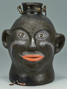 Lot 144: NC Kennedy Pottery Painted Face Vessel