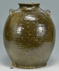 Lot 146: NC or SC Alkaline Glaze Pottery Jar