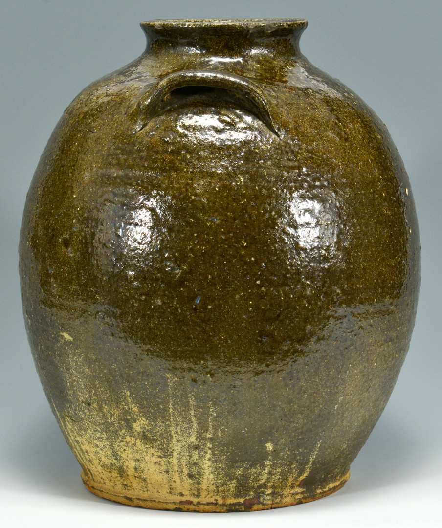 Lot 146: NC or SC Alkaline Glaze Pottery Jar