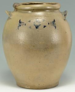 Lot 147: Staunton VA Cobalt Stoneware Jar